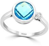 Effy 14K White Gold, Blue Topaz & Diamond Ring