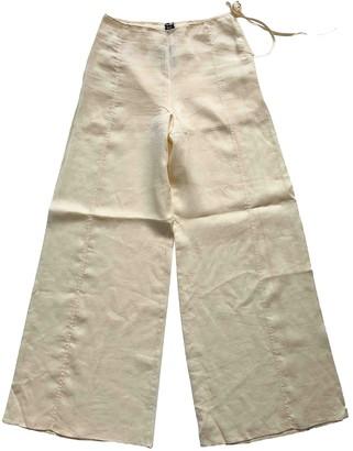 Gianfranco Ferre Beige Cloth Trousers for Women