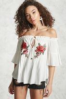 Forever 21 FOREVER 21+ Off-the-Shoulder Floral Top