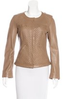Max Mara Quilted Leather Jacket