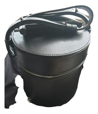 Building Block Black Leather Handbags
