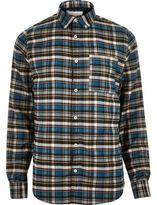 River Island MensBlue check flannel shirt