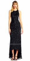 Adrianna Papell Sparkling Sequin High-low Evening Dress