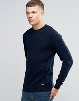 Bench Crew Neck Contrast Knitted Sweater