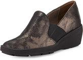 Sesto Meucci Malice Metallic Casual Wedge Loafer, Black