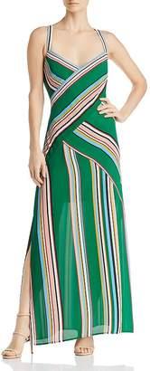 Adrianna Papell Striped Maxi Dress