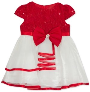 Rare Editions Baby Girls Lace To Mesh Dress