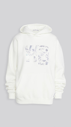 Alexander Wang Hooded Sweatshirt with Embroidered Money