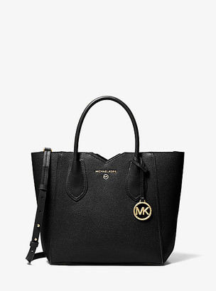 Michael Kors Mae Medium Pebbled Leather Messenger Bag