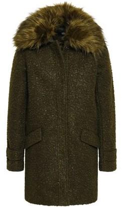 Line Ludwig Faux Fur-trimmed Boucle Coat