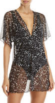 Jordan Taylor Cheetah Mesh Cover-Up Dress