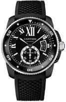 Cartier Calibre De WSCA0006 Men's Black Silicone Automatic Watch