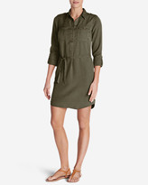 Eddie Bauer Women's Tranquil Shirt Dress - Solid