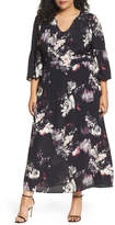 Sejour Bell Sleeve A-Line Maxi Dress (Plus Size)