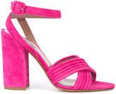 Tabitha Simmons Nora cross strap sandals - women - Lamb Skin/Leather - 36