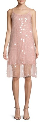 Avantlook Embellished Lace Shift Dress