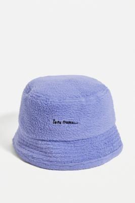 iets frans... Purple Fleece Bucket Hat - Purple ALL at Urban Outfitters