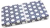 Wendy Bellissimo Wendy BellissimoTM Mix & Match Hexagon Print Changing Pad Cover in Navy/Grey