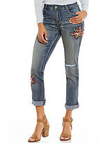 Tru Luxe Jeans Embroidered Slouchy Boyfriend Jeans