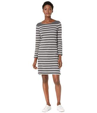 Hatley Zoe Dress - Charcoal Melange Stripes