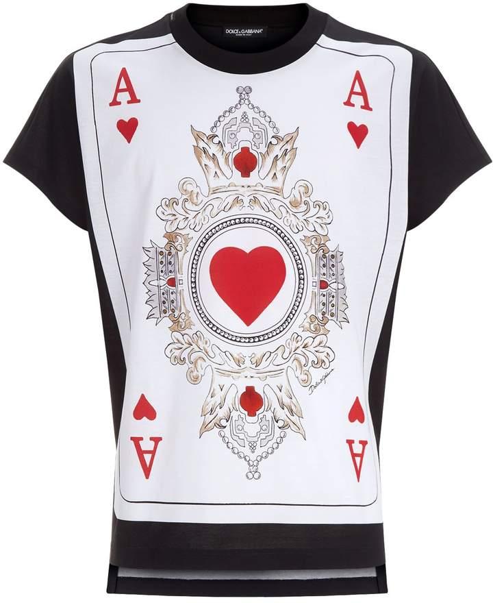 Dolce & Gabbana Ace of Hearts T-Shirt