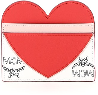 MCM visetos card holder with heart