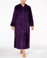 Charter Club Plus Size Hooded Zip-Front Robe, Only at Macy's