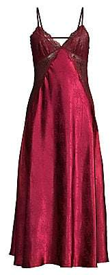 Jonquil Women's Olivia Floral Lace Bodice Midi Nightgown