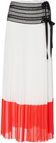 Oscar de la Renta Tea Length Column Skirt with Side Split