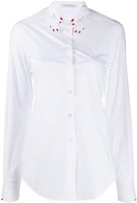 VIVETTA embroidered hand collar shirt