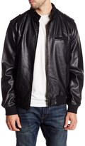 Members Only Faux Leather Iconic Racer Jacket