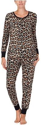 Kate Spade Brushed Jersey Jogger Long Pajama Set (Logo Dot) Women's Pajama Sets