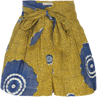 Ulla Johnson Martin Belted Printed Cotton Shorts