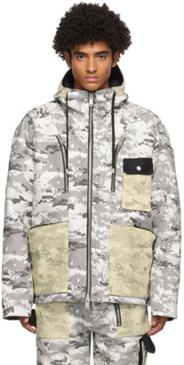 ADYAR SSENSE Exclusive Black and White Camo Shell Jacket