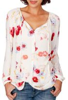 Lucky Brand Floral Long-Sleeved Peasant Top