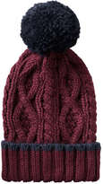 Joe Fresh Women's Pompom Hat, Dark Grey Mix (Size O/S)