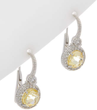 Judith Ripka Silver White Topaz & Crystal Earrings