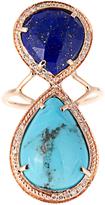 Jacquie Aiche Diamond, lapis, turquoise & rose-gold ring