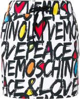 Love Moschino typography print skirt