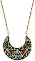 Lucky Brand Gold-Tone Mosaic Pendant Necklace