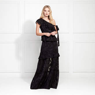 Rachel Zoe Lilith Fil Coupe Ruffled Maxi Skirt