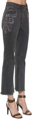 Etro Geecky Boot Flared Cotton Denim Jeans