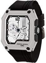 Jorg Gray Men's Quartz Watch with White Dial Chronograph Display and Black Rubber Strap JG7100-22