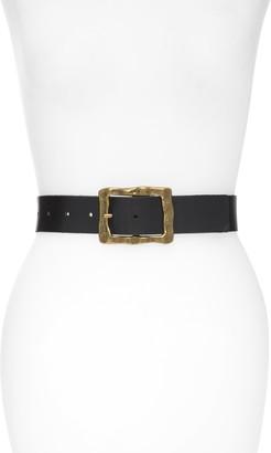 Treasure & Bond Textured Buckle Leather Belt
