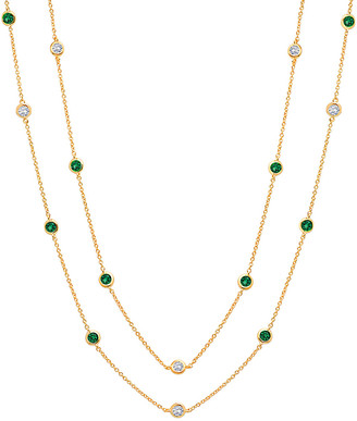Crislu 18K & Silver Cz 36In Necklace