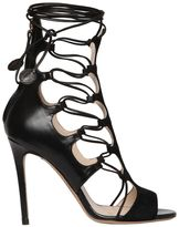 Etro 105mm Suede & Leather Cage Sandals