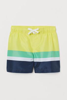 H&M Color-block Swim Shorts