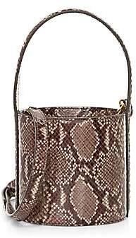 STAUD Women's Mini Bissett Snakeskin-Embossed Leather Bucket Bag
