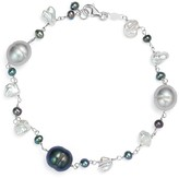 Bloomingdale's Cultured Freshwater Pearl and Keshi Pearl Bracelet 14K White Gold