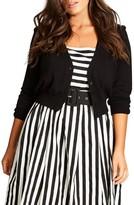 City Chic Plus Size Women's Cutie Pie Crop Cardigan